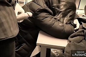 I touch my colleague when she kip with my dick 2