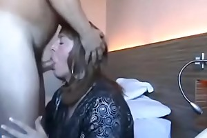 crossdresser blowjob