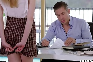 VIXEN Kinky Scrimshaw Gets Promised and Fucked At the end of one's tether Her Boss