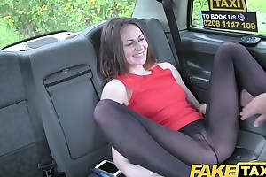 Fake Taxi Stunning deepthroat gagging brunette with throughout get under one's trimmings