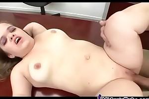 Dwarf girl fucked on the bureau