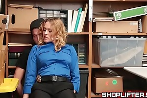 Sissified Officer Krissy Lynn Blackmailing Shoplifter