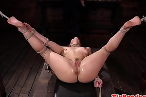 Promised bdsm sub fingered by gloved maledom
