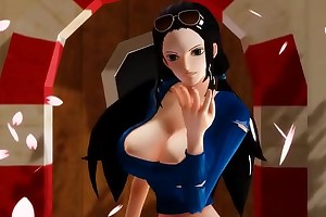 -MMD One Piece- Nico Robin twerking and dancing
