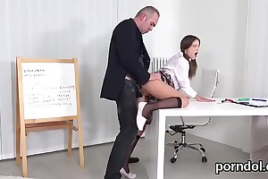 Attractive schoolgirl was seduced together with poked by her doyen instructor