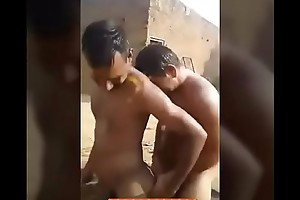 Desi gay video of a group of naked straight guys bathing with an increment of masturbating each other - Indian Gay Site