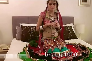 Gujarati Indian College Pamper Jasmine Mathur Garba Dance and Showing Bobbs