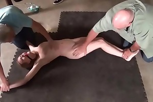 Bashful intruder slut Ashley Lane gets captured and hogtied like a protest