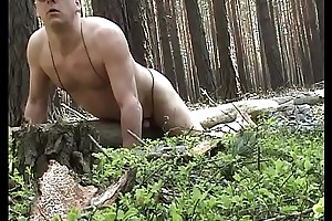 Humping meagre a fallen tree fraternity in the woods