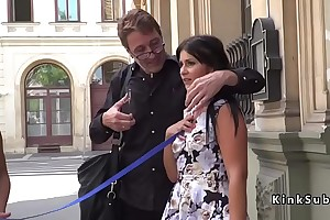 Hungarian slave first time naked relating to public