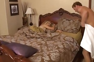 Mom give farther fuck to stepdaughter