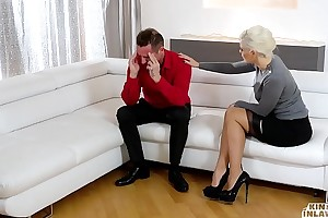 Extraordinary INLAWS - Squirting Ukrainian blonde stepmom fucks stepdaughter'_s day