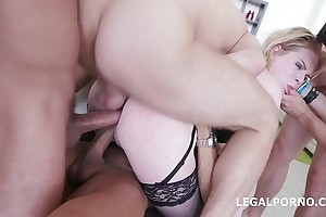 5on1 for the Big Butt PAWG Adry Berty with Duplicate Anal &amp_ 5 swallows