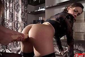 Italian lesbian beauties anal dildo make the beast with two backs every other