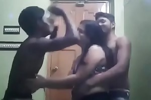 Indina aunty dancing in two boys