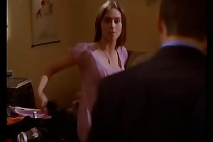 Jennifer Love Hewitt off colour cleavage downblouse, Party of Five S04E08 (no sound)