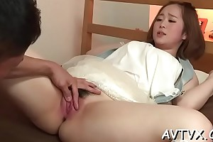 Outcast increased by wet japanese oral-sex