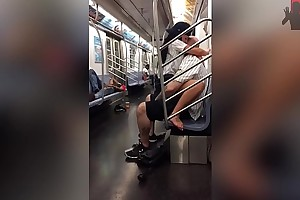 Couple fucking on underground railway train (HD)