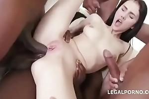 Petite Namby-pamby Prostitute Interracial Gangbang