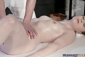Massage Rooms Elegant pale skinned Mom squirts for the very first time