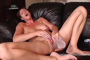 Danish amateur masturbates and squirts