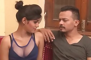 Hot Indian milf cleavage impersonate boob churn kissing Indian HD Bhabhi
