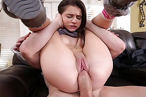 ABUSEME - Teen Babysitter Kharlie Stone Gets Her Penurious Pussy Wrecked By J-Mac