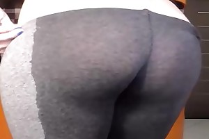 Staggering Strong Squirts soaked Leggings