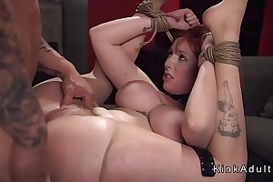 Busty fat menial gets anal fucked