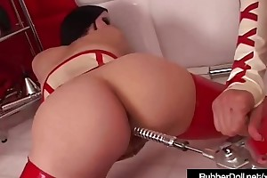 Latex Babe Rubber Main Abuses Succubus With Dental Sex Tools