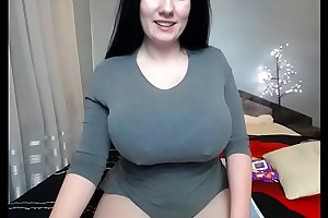 Weighty tits uninspired girl squirt on webcam