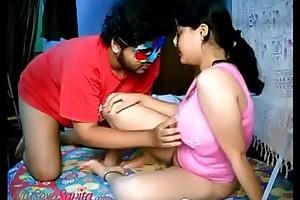 Beamy Boob Indian Bhabhi Savita Fingering Pussy Plus Fucked In Missionary Show off