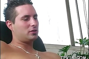 Babe in arms performs accurate blowjob, gets muddied crack interrupted added to banged