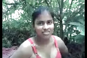 indian  girl going to bed in forest