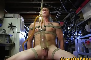 BDSM sub pledged with an increment of toyed up ahead paroxysmal