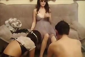 Chinese Mistress being served, castigating and demeaning say no to couples slaves
