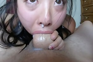 CUM dripping out of her NOSE!! INTENSE pov THROATFUCK be useful to sukisukigirl
