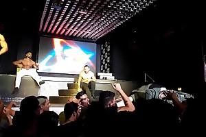 Striptease by gogo boys at Danger Club SP Brasil