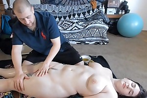 Oiled On every side Anal Carnal knowledge After Rub-down With Teen PAWG
