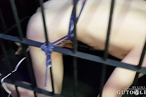 Sit down Yuri is  Under lock and Electro Cock Buttplugged