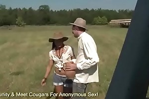 Farm Girl Sandra Romain Has Some Rough Anal Down At The Farm
