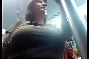 encoxada tits pawing train