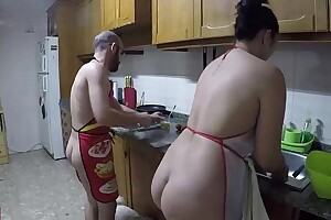 Nudist cuisine and fucked in the caboose
