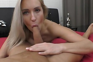 Passionate European mollycoddle with unproficient breasts gets nicely fucked