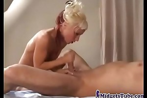 Most skilfully gorgeous midget prince of darkness fucked
