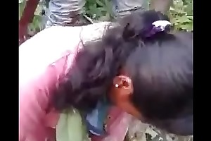Indian gf drilled by bf and his cohort in jungle
