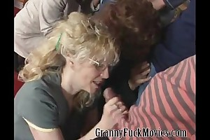 Big granny fuckparty at home