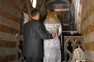 Dina jewel fucked by a ribald priest