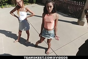 Exxxtrasmall - diminutive chicks drilled at the end of one's tether massive learn of