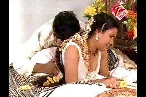 Telugu house filthy doxy Fixed devoted to slut 1st night hot couch room scen...